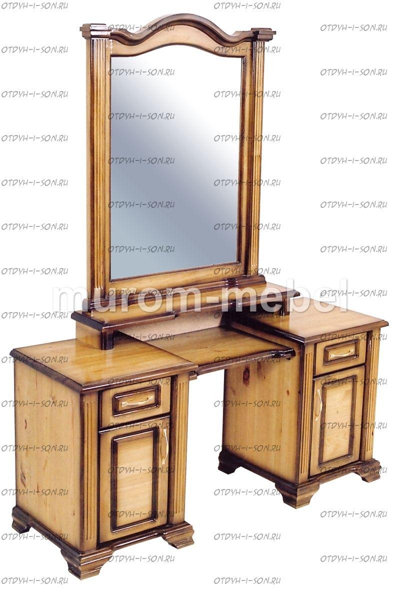 Туалетный столик с зеркалом из дерева