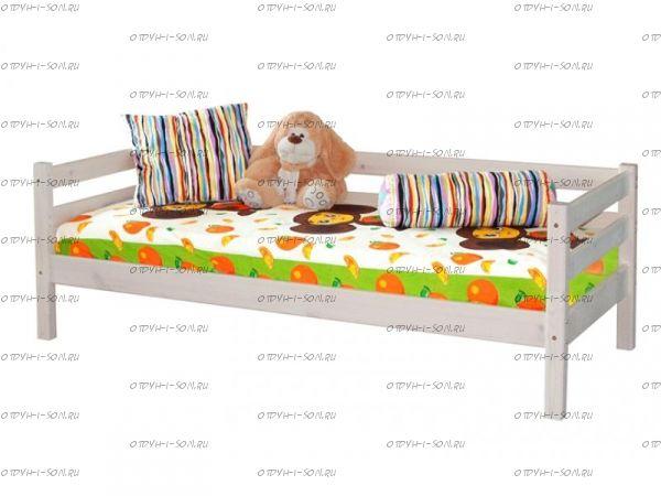 Кровать Соня2 с задней защитой массив