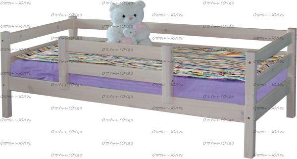 Кровать Соня4 с защитой по центру массив