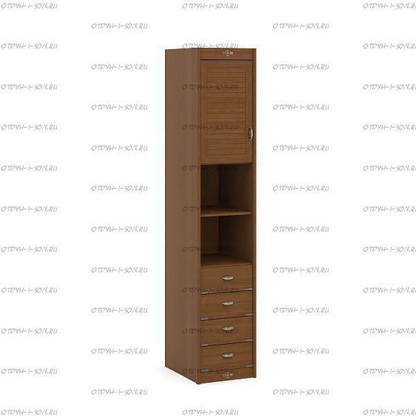 Шкаф 1-но дверный Корвет (52.201.01) 45х58х228