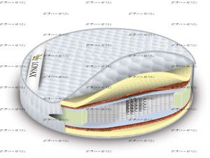 Матрас Lonax Round Medium S1000
