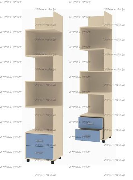 Шкаф-стеллаж Дельта-5.01 (46х43х216)