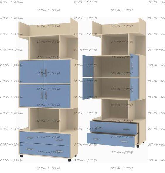 Шкаф комбинированный Дельта-5.03 (88х43х216)