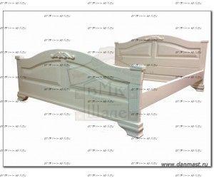 Кровать Акатава (ВМК Шале) с резьбой