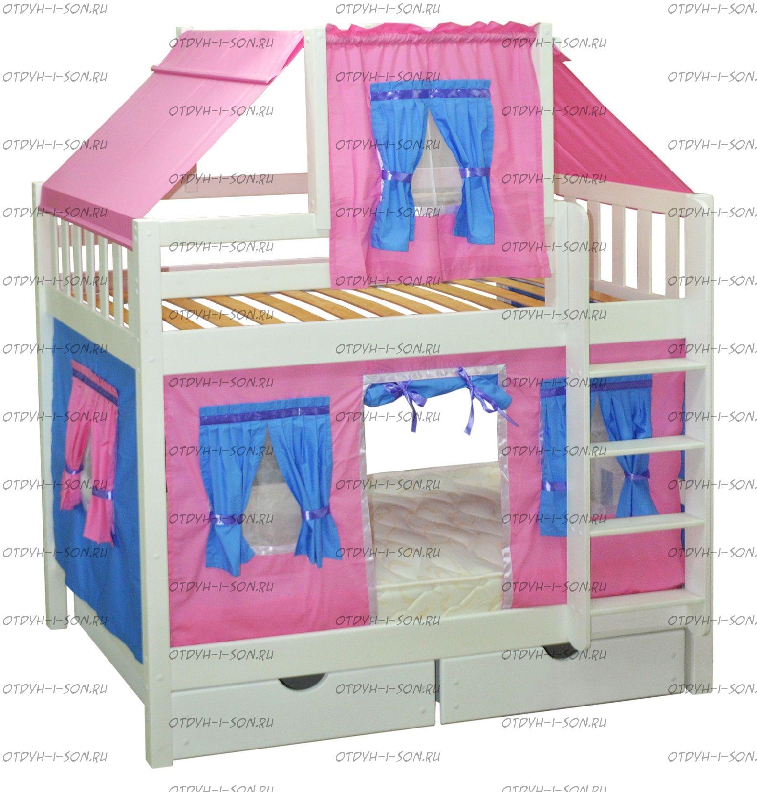 Кровать двухъярусная Скворушка