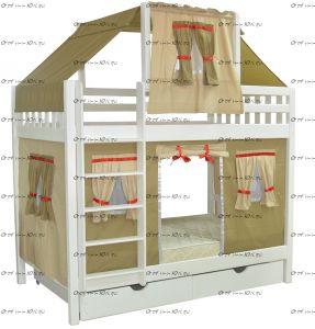 Кровать двухъярусная Скворушка-5