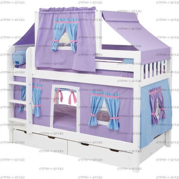 Кровать двухъярусная Скворушка-3 (Белоснежка)