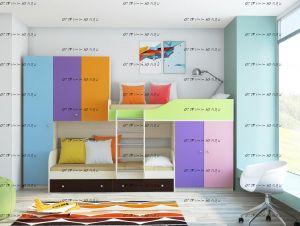 Кровать двухъярусная Лео