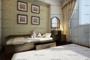 Кровать Тахта Массив с 2 ящиками DreamLine
