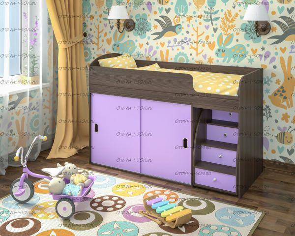 Кровать-чердак Малыш Купе