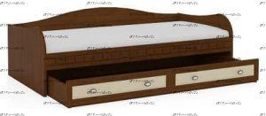 Кровать-тахта Итальянские мотивы МДФ (90Х195 и 80Х186)