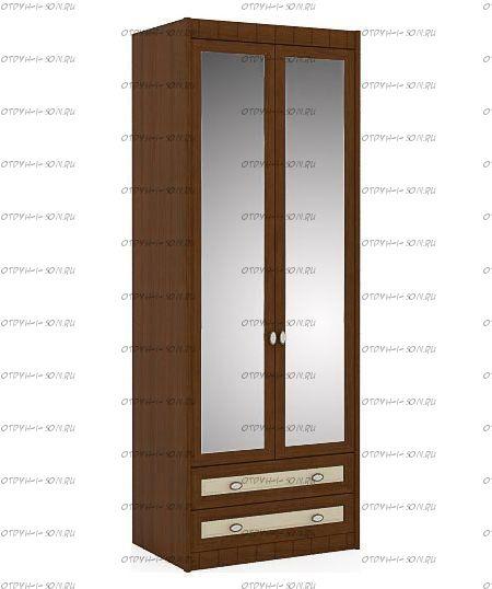 Шкаф двухстворчатый Итальянские мотивы (51.202.04) МДФ, 85х58х228