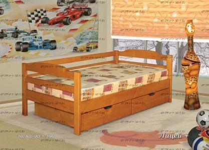 Кровать Лицей + (ВМК Шале) с ящиками
