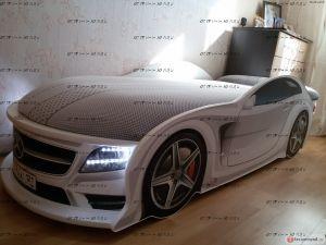 Кровать-машина Ауди А4 Стандарт UNO с матрасом (Мебелев)