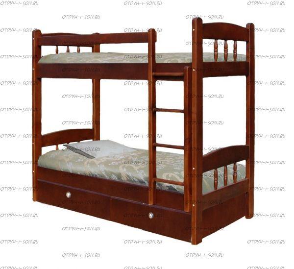 Кровать двухъярусная Скаут-1 с ящиками