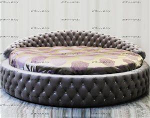 Кровать круглая Letto  Rotondo GM 16 со стразами