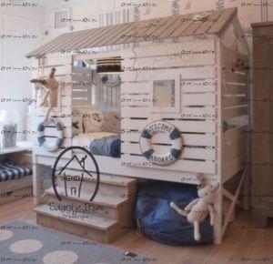 Кровать-чердак Wood №80