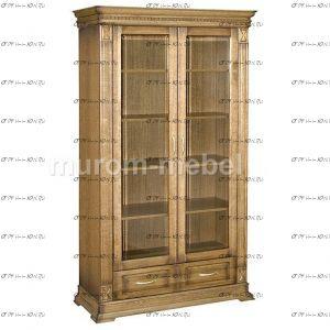 Шкаф-витрина 2-дверный Флоренция-4